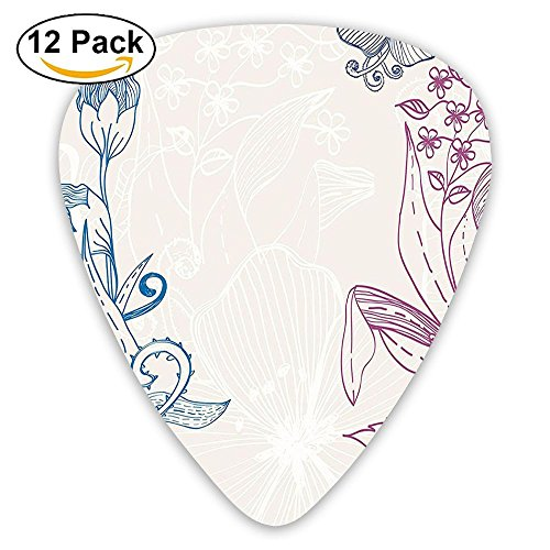Newfood Ss Flower Field Beauty Blooms In Spring Embellished Petals Artsy Graphic Guitar Picks 12/Pack Set ()