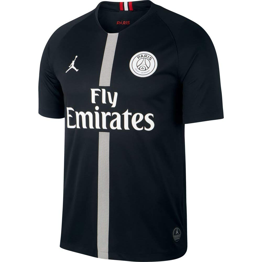Amazon.com : NIKE Paris Saint-Germain Air Jordan Mens Third Jersey 2018-2019 Black : Sports & Outdoors