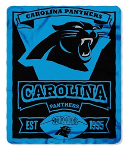 eda60b8e Officially Licensed Carolina Panthers Marque Series Fleece Throw Blanket  (50