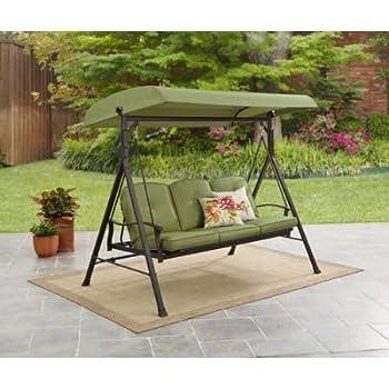 Amazon Com Mainstays Belden Park 3 Person Hammock Swing
