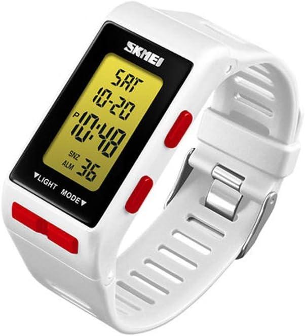 AIOEJP Reloj electrónico multifunción for niños Deportes juveniles Reloj casual multifunción a prueba de agua Hombres Mujeres Tendencia casual linda Reloj digital con pantalla digital simple