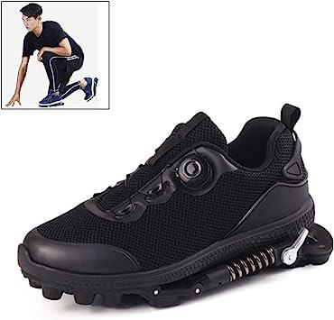 Grist CC Zapatillas Deportivas de Aire para Correr con Amortiguador de muelles,Zapatillas de Deporte para Correr Unisex Gym Fitness Ligero, Negro: Amazon.es: Deportes y aire libre