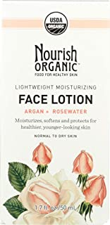 product image for Nourish Organic (NOT A CASE) Lightweight Moisturizing Face Lotion Argan + Rosewater