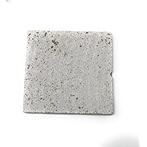 Coaster Tile-tumbled Travertine Porous Craft Tile -4x4 in (8 Pieces) with 2 pg Tile Guide Instructions (Walnut)