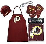 Washington Redskins (Apron & Oven Mitt Pot Holder), Bonus Bottle Beer Opener, Barbeque Apron and Chef's Hat , NFL Licensed