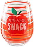Pavilion Gift Company 73234 After School Snack Stemless Wine Glass