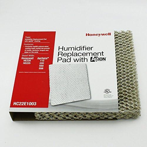Almohadilla humidificadora Honeywell HC22E1003 HE225 con revestimiento Agion