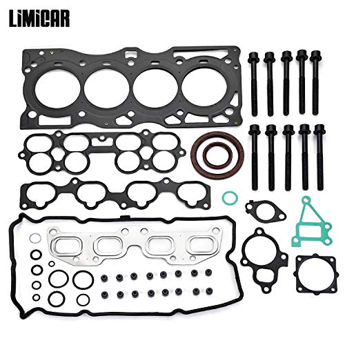 - LIMICAR Head Gasket Set w/Head Bolts HS26261PT Compatible with 2002-2006 Nissan Altima Sentra 2.5L QR25DE