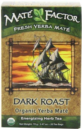 - The Mate Factor Yerba Mate Energizing Herb Tea, Dark Roast, 20 Tea Bags (Pack of 3)