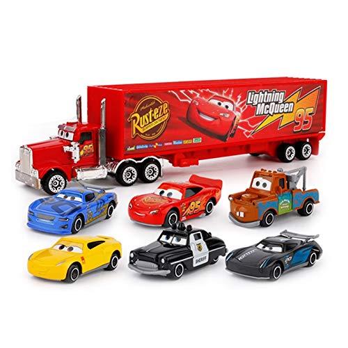 JefreyF Diecasts & Toy Vehicles - 7Pcs/Set Disney Pixar Cars 3 Lightning McQueen Jackson Storm Cruz Mater Mack Uncle Truck 1:55 Diecast Metal Car Model Boy Toy 1 PCs