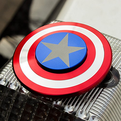 The Anti-Anxiety 360 Spinner Fidget Toy Shield Helps Focusing Premium Quality EDC for Kids & Adults Stress Reducer Relieves ADHD Anxiety Boredom Ceramic Cube Bearing