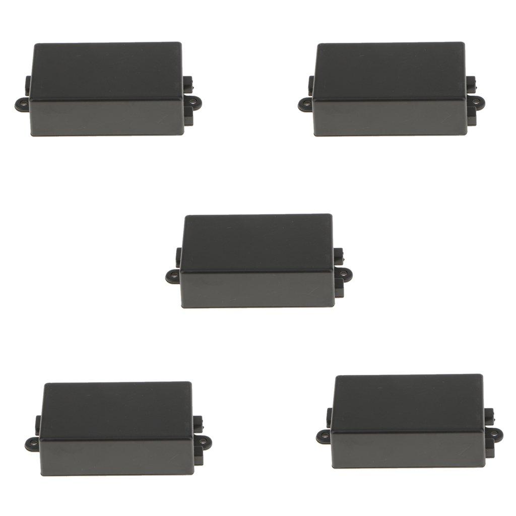 MagiDeal 5pcs 65 X 38 X 22 mm Caja de Terminale para Circuito Electró nico Recinto de Plá stico Negro