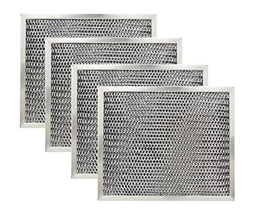 Range Hood Charcoal Filter for Broan 97007696 6105C 4-Pack ()