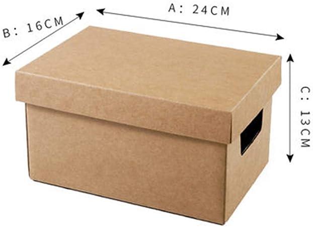 FSQY Kraft Papel recepción de Cajas Snacks Super Tapa Dura de Acabado Archivos de Carga Libros Colección Caja de cartón Sub-Archivo: Amazon.es: Hogar