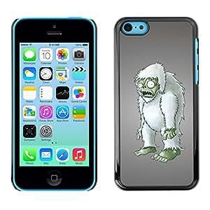 QCASE / Apple Iphone 5C / zombie todavía muñeco estatuilla peludo arte 3d / Delgado Negro Plástico caso cubierta Shell Armor Funda Case Cover