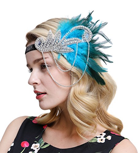 FAIRY COUPLE Inspired 1920s Flapper Headband Accessories Gatsby Style 20s Headpiece -