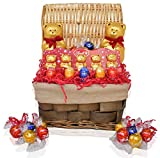 Easter Lindt Variety Chocolate and Candy Gift Basket - Easter Chocolate Eggs, Truffles, Bears - Easter Gifts for Family, Friends, Kids, Coworkers