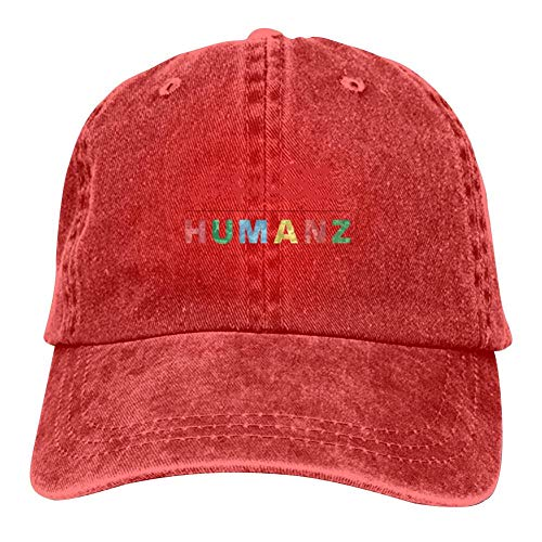 Unisex Humanz G-orillaz Music Videos Rock Hip Hop Logo Hip Hop Baseball Cap Adjustable Cowboy Hat Red