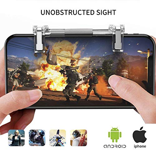 OMUKY Mobile Game Controller Sensitive Shoot and Aim Keys,Gaming Triggers Buttons, Adjustable Length for Android,iOS Phone(Version2)