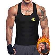 Men Waist Trainer Vest Hot Thermal Top Neoprene Weight Loss Slimming Shaper
