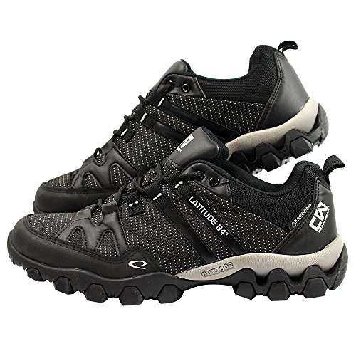Latitude 64 Chain Wear T-Link Disc Golf Shoe - Black/Black - Size 7.5