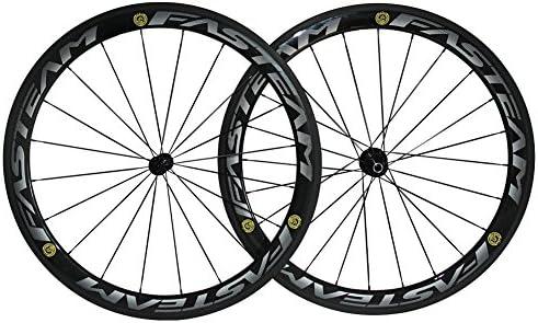 FASTEAM 50 mm 700 C clincher ruedas 3 K carbono juego de ruedas para bicicleta de carretera Powerway R13 Hub 50 mm de profundidad ancho 23 mm