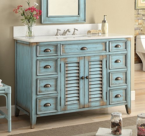 Best Deals! 46 Cottage look Abbeville Bathroom Sink vanity Model CF28885BU