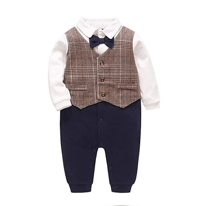 Huateng Baby Jumpsuit Smoking Boy Clothes Body Clothes Gentleman ...