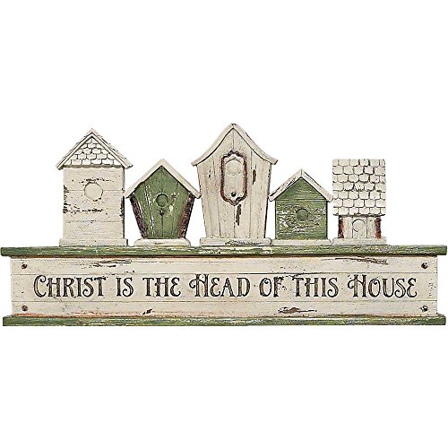 Christ is the Head of this House Birdhouses 11.5 x 5.25 Inch Resin Outdoor Garden Sign