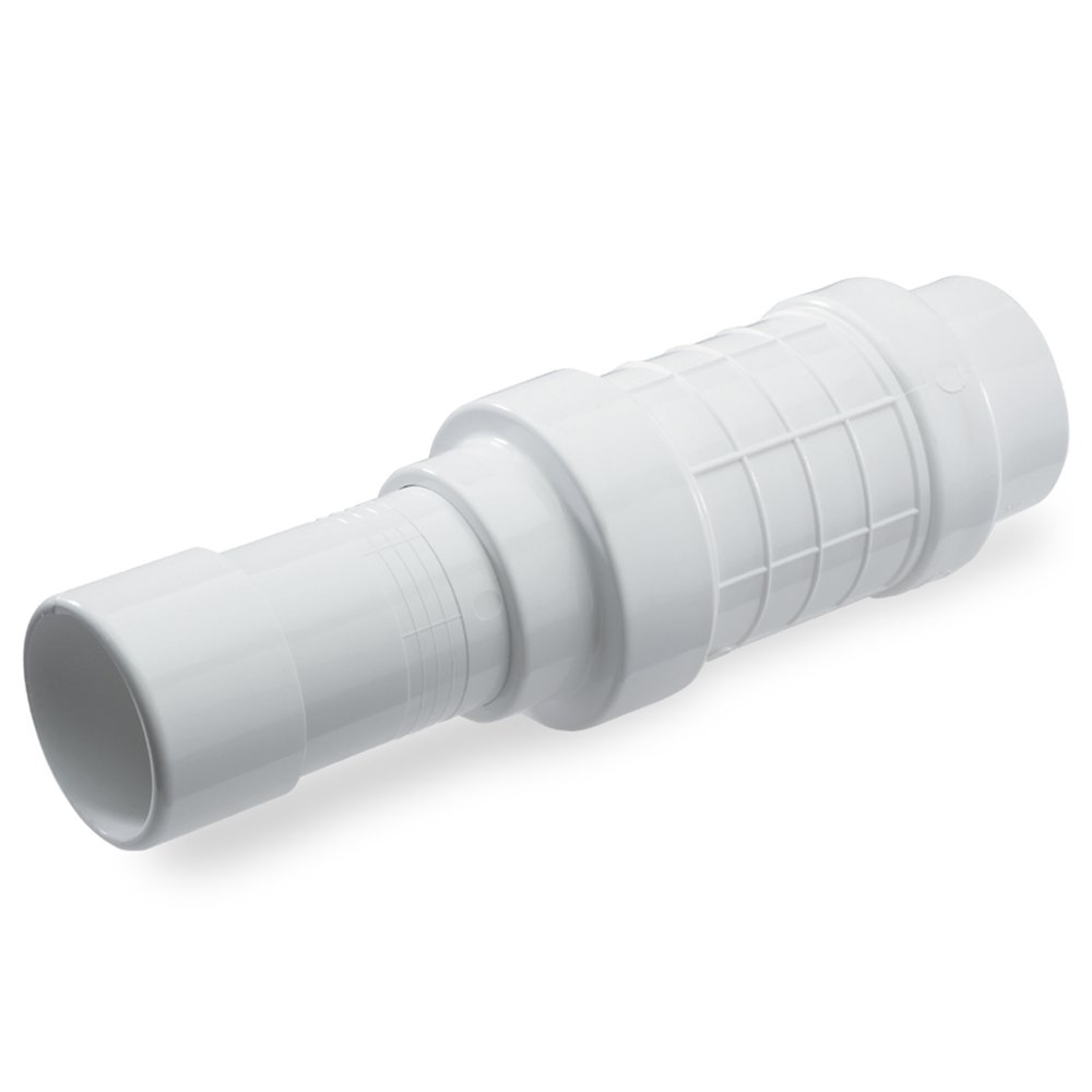 King Brothers Inc. QF-2000 PVC Quik-Fix Telescoping Repair Coupling, White, 2-Inch