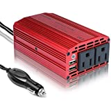 BESTEK 300W Power Inverter DC 12V to 110V AC Converter with 3.1A Dual USB Car Charger