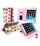 Emartbuy® Universal Range Multi Owls Multi Angle Executive Folio Wallet Case Cover For Kindle Fire HD 7 7 Inch Tablet