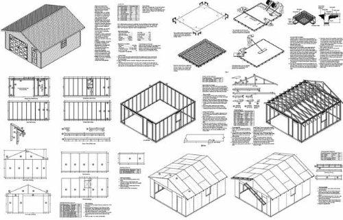 18' X 20' Car Garage/workshop Project Plans - Design #51820