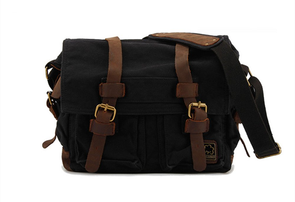 Sechunk-Vintage-Military-Leather-Canvas-Laptop-Bag-Messenger-Bags-Medium