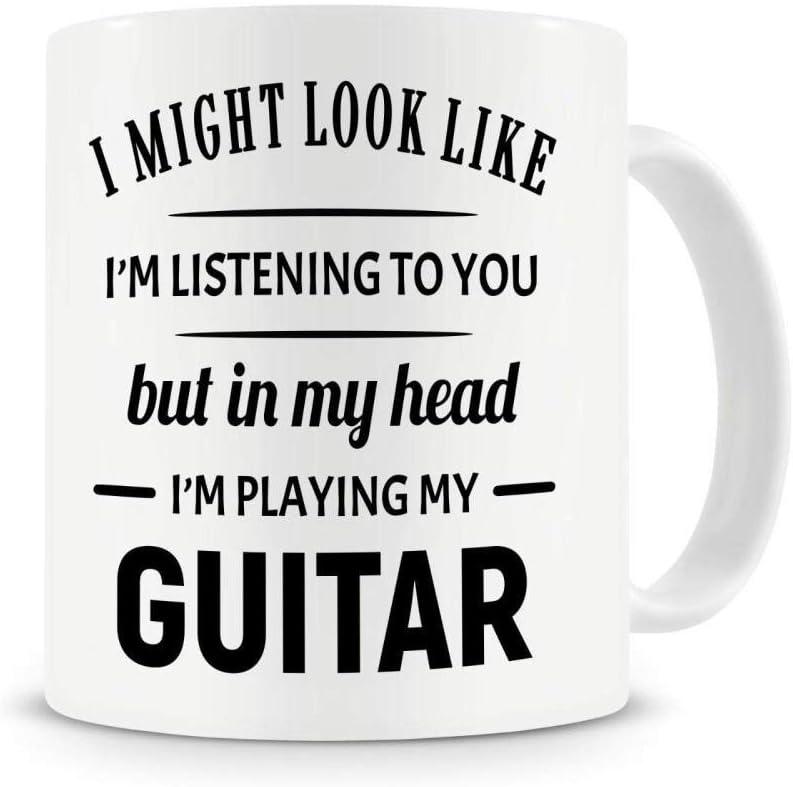 Estoy tocando mi guitarra/PIANO Taza de café Guitarrista divertido ...