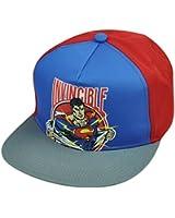 Superman Invincible Flat Bill Snapback Super Hero Cartoon Hat Cap DC Comics Book