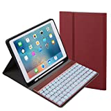 For iPad 9.7 inch 2018 2017 Keyboard Case. 7 Color Backlit with Built-in