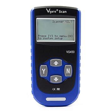VS450 Código diagnóstico escáner com Reset Airbag ABS SAS SRS Automotive OBD 2 Diagnóstico dispositivo,