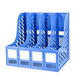 CHAOYANG Multifunction Magazine Holder File Rack,Office Storage Desktop Shelf File Dividers Cabinet Document Tray Organiser Box。 (Color : Blue, Size : 340255310mm)