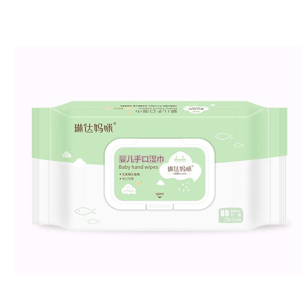 ReFaXi Sensitive Protect Baby Wet Wipes Body Cleaning 80 Wipes Per Pack Extra Soft