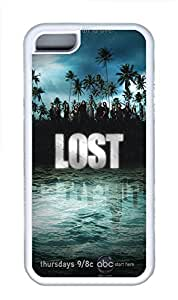 iPhone 5C Case, iPhone 5C Cases - Lost Polycarbonate Hard Case Back Cover for iPhone 5C¨C White