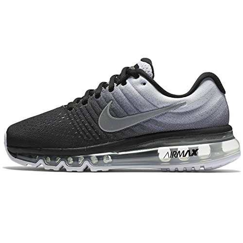 sale retailer ad56f c7e9e NIKE Boys Air Max 2017 Big Kid Trainer Running Shoes B/W 3.5 Medium (D) Big  Kid