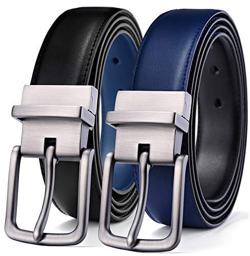 - Men's Belt, Bulliant Leather Reversible Belt 1.25