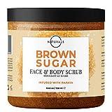 O Naturals Exfoliating Brown Sugar & Papaya Gentle Scrub for Face, Lips & Body. Hydrating, Anti-Cellulite Treats, Acne Ingrown Hairs Razor Burn Scars Stretch Marks & Varicose Veins. Moisturizing. 239g
