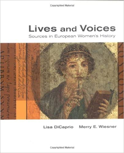 Amazon lives and voices sources in european womens history amazon lives and voices sources in european womens history 9780395970522 lisa dicaprio merry e wiesner books fandeluxe Choice Image
