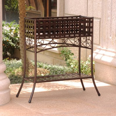 Mandalay Novelty Plant Stand Finish: Bronze by International Caravan