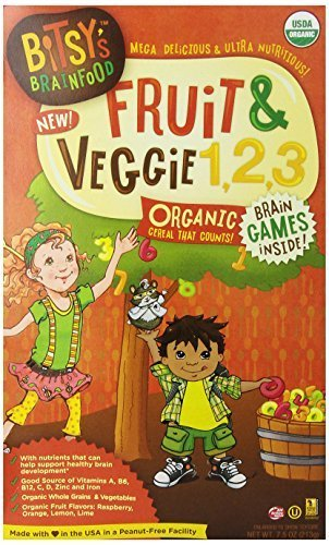 Bitsy's Brainfood Cereal for Kids, Fruit and Veggie 1,2,3, 7.5 Ounce by Bitsy's Brainfood