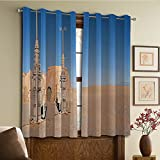 Custom design curtains/Vintage Lace Window Curtain/Grommet Top Blackout Curtains/Thermal Insulated Curtain For Bedroom And Kitchen-Set of 2 Panels(of Famous Movie Set on the Planet Fantasy Galaxy)