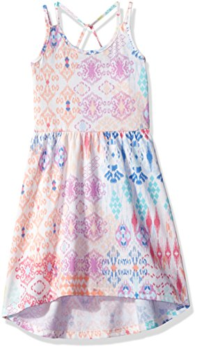 The Children's Place Toddler Girls' Ikat Printed Dress, Snow, (Girls Party Place)