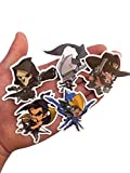 Overwatch Custom Print Die Cut Bumper Vinyl Stickers - Pack of All 25 Characters (Cute)